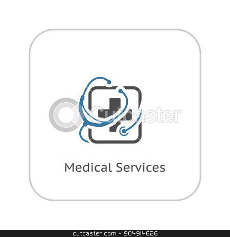 Medical Services Icon. Flat Design. stock vector clipart, Medical Services Icon. Flat Design Isolated Illustration. by Vadym Nechyporenko