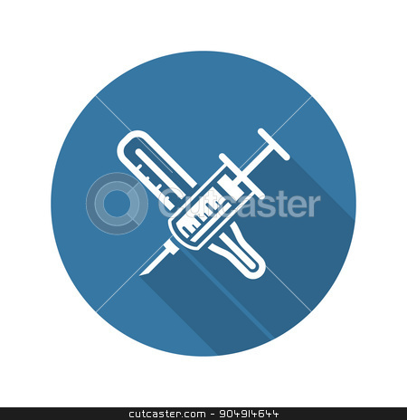 Vaccination and Medical Services Icon. stock vector clipart, Vaccination and Medical Services Icon. Flat Design. by Vadym Nechyporenko