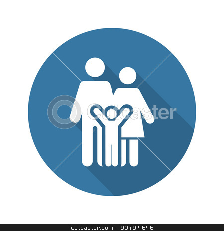 Family Support Icon. Flat Design. stock vector clipart, Family Support and Medical Services Icon. Flat Design. Isolated. by Vadym Nechyporenko