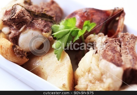 Beef soup ingredients stock photo, Ingredienst to make beef soup - detail by Digifoodstock