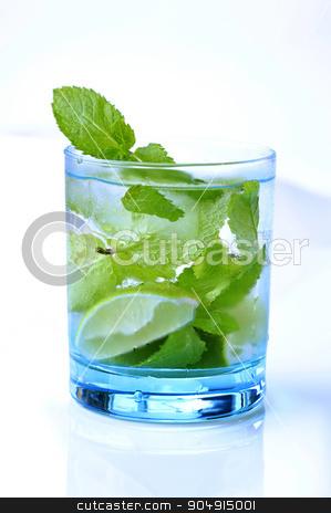 Glass of Mojito stock photo, Glass of Mojito drink - studio shot by Digifoodstock