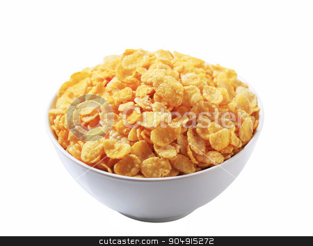 Corn flakes stock photo, Bowl of corn flakes by Digifoodstock