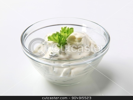 Tartar sauce  stock photo, Bowl of thick tartar sauce by Digifoodstock