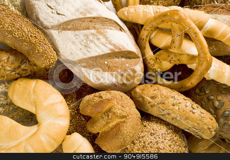 Variety of fresh bread stock photo, Various kinds of fresh bread by Digifoodstock