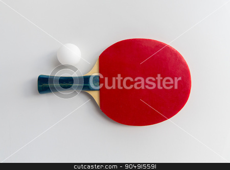 close up of table tennis rackets with ball stock photo, sport, fitness, healthy lifestyle and objects concept - close up of ping-pong or table tennis rackets with ball by Syda Productions