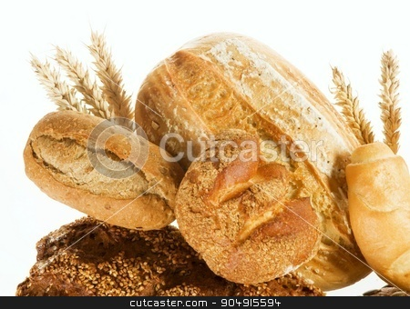 Fresh bread stock photo, Various kinds of fresh bread by Digifoodstock