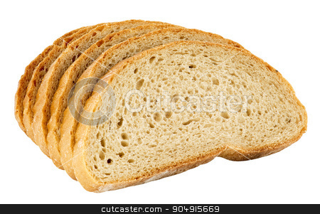 Sliced bread  stock photo, Sliced bread isolated on white by Digifoodstock