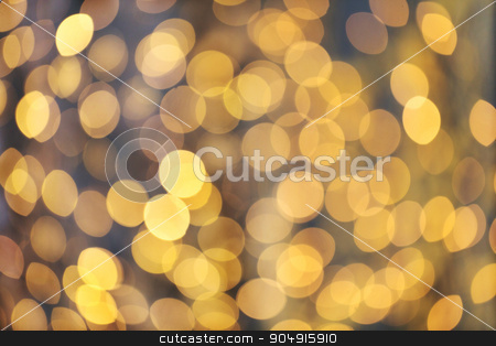 blurred golden lights bokeh stock photo, christmas, holidays and background concept - blurred golden lights bokeh by Syda Productions