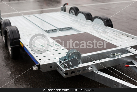 close up of trailer outdoors stock photo, transportation and equipment concept - close up of trailer outdoors by Syda Productions