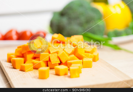 the natural pumpkin  stock photo, the natural pumpkin on a background of vegetables by MegaArt