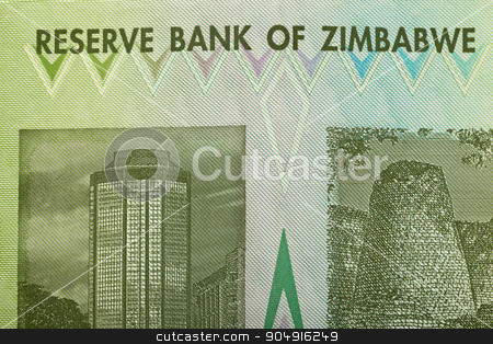 Zimbabwe twenty billion dollars banknote stock photo, Macro of Zimbabwe twenty billion dollars banknote. Now void currency. Inflation concept by Artush