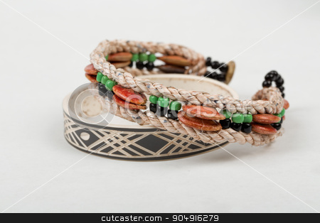 himba handcrafted bracelet stock photo, two original himba tribe handcrafted bracelet. The Himba are indigenous peoples living in northern Namibia. by Artush