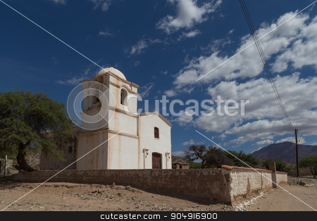 Small chruch on route 40 in Northwest Argentina stock photo, Photograph of a small church on route 40 in the Northwest of Argentina. by Oliver Foerstner