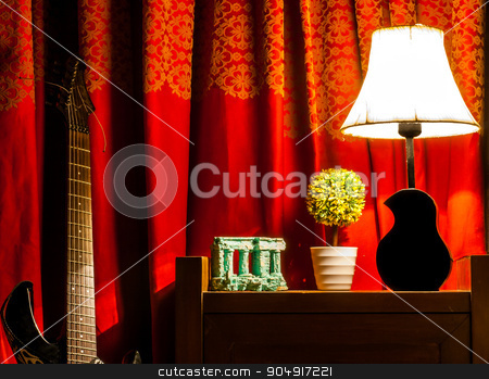 night lamp stock photo, night time side lamp by Shahbaz