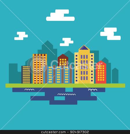 Urban landscape. Flat design stock vector clipart, Urban landscape. Flat design illustration by TatyanaGorelova