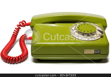 mobile phone on a white background stock photo, The photo depicts a mobile phone on a white background by AlexBush