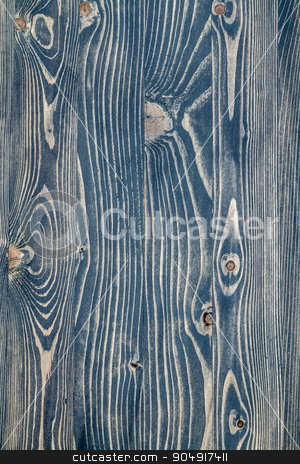 Painted Blue Wooden Background with Knots stock photo, Painted blue wooden texture background with knots by OZMedia