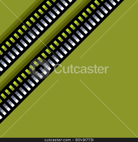 steel techno tubes pattern with an green backlight  stock vector clipart, steel techno tubes pattern with an green backlight  by johnjohnson