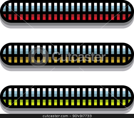stylized steel techno tubes with a backlight on white stock vector clipart, stylized steel techno tubes with a backlight on white by johnjohnson
