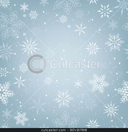 Christmas Snowflakes seamless pattern stock vector clipart,  by monicaodo