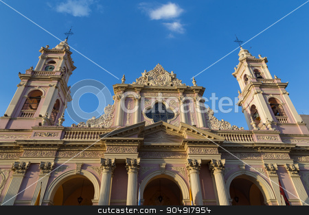 Cathedral in Salta, Argentina stock photo, Photograph of the cathedral in Salta, Argentina by Oliver Foerstner