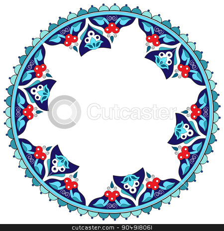 Antique Ottoman borders and frames series eighteen stock vector clipart, Borders and frames are designed with Ottoman motifs by Sevgi Dal