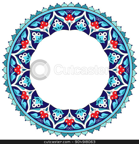 Antique Ottoman borders and frames series fifteen stock vector clipart, Borders and frames are designed with Ottoman motifs by Sevgi Dal