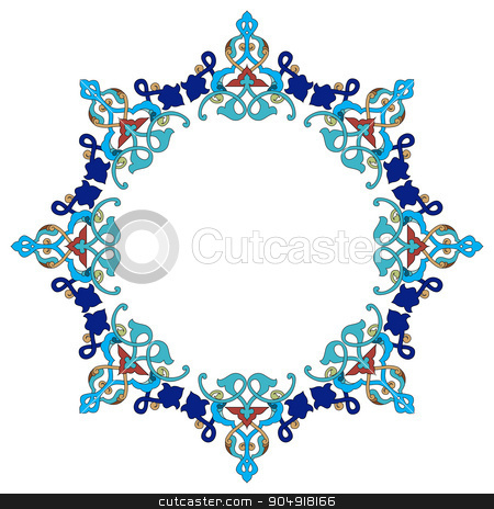 Antique Ottoman borders and frames series forty four stock vector clipart, Borders and frames are designed with Ottoman motifs by Sevgi Dal