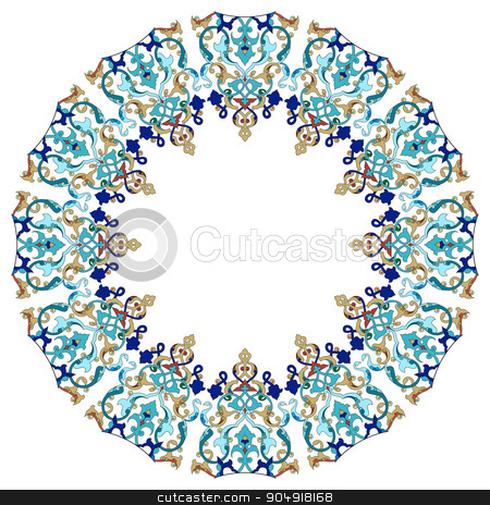 Antique Ottoman borders and frames series forty one stock vector clipart, Borders and frames are designed with Ottoman motifs by Sevgi Dal