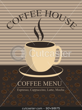 Coffee house stock vector clipart, Menu for restaurant, cafe, bar, coffee house by monicaodo