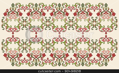 Antique Ottoman borders and frames series forty seven stock vector clipart, Borders and frames are designed with Ottoman motifs by Sevgi Dal