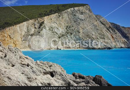 Rocks at Porto Katsiki Beach, Lefkada, Ionian Islands stock photo, Rocks at Porto Katsiki Beach, Lefkada, Ionian Islands, Greece by Stoyan Haytov