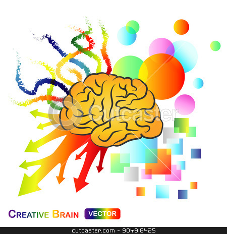 Creative / Abstract Brain stock vector clipart, Creative / Abstract Brain by stockdevil