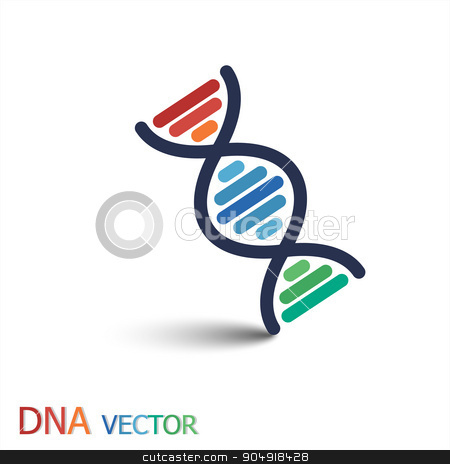 DNA ( Deoxyribonucleic acid ) symbol  ( Double strand DNA ) stock vector clipart, DNA ( Deoxyribonucleic acid ) symbol  ( Double strand DNA ) by stockdevil
