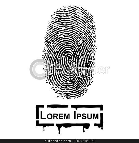 Realistic Fingerprint and frame for fill text stock vector clipart, Realistic Fingerprint and frame for fill text by stockdevil