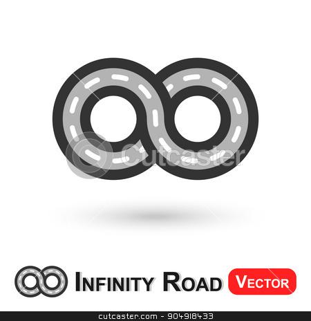 Infinity Road  ( infinite travel ) stock vector clipart, Infinity Road  ( infinite travel ) by stockdevil