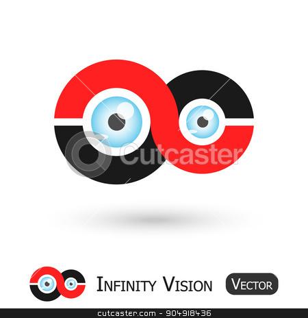 Infinity Vision ( Infinity sign and eyeball ) stock vector clipart, Infinity Vision ( Infinity sign and eyeball ) by stockdevil