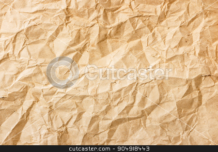 Old crumpled paper  stock photo, The texture of old brown crumpled paper by stockdevil
