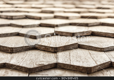wooden roof  stock photo, The texture of old wooden roof in Thailand by stockdevil