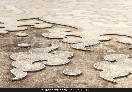 Ground pattern stock photo, Ground pattern at Wat Rong Khun ,Chiangrai ,Thailand by stockdevil