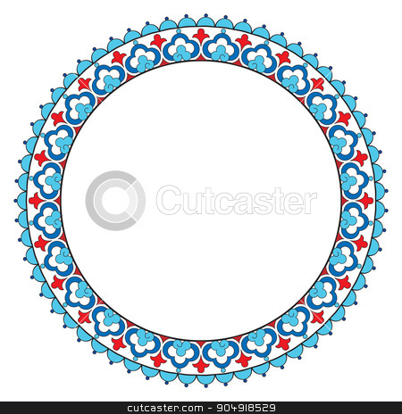 Antique Ottoman borders and frames series six stock vector clipart, Borders and frames are designed with Ottoman motifs by Sevgi Dal