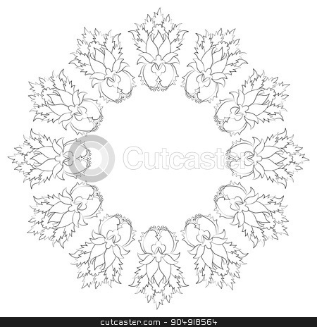 Antique Ottoman borders and frames series thirty seven stock vector clipart, Borders and frames are designed with Ottoman motifs by Sevgi Dal
