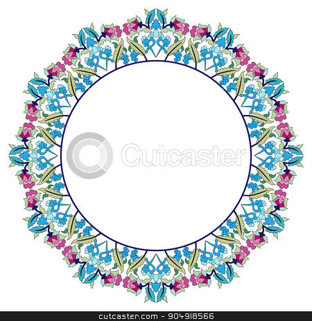 Antique Ottoman borders and frames series thirty three stock vector clipart, Borders and frames are designed with Ottoman motifs by Sevgi Dal
