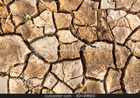 crack ground stock photo, a crack ground in arid environment ,Thailand by stockdevil