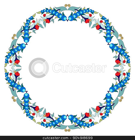 Antique Ottoman borders and frames series twenty three stock vector clipart, Borders and frames are designed with Ottoman motifs by Sevgi Dal