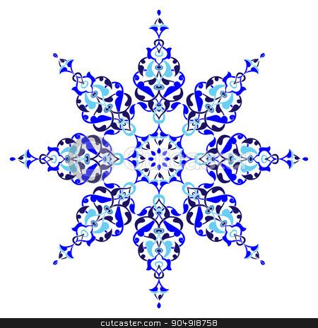 Antique ottoman turkish pattern vector design five stock vector clipart, colorful antique ottoman turkish design pattern vector by Sevgi Dal