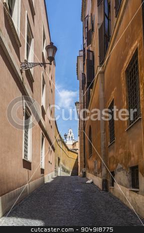 Scenic street in Rome stock photo, view of the scenic street vicolo del monticello in Rome by rarrarorro