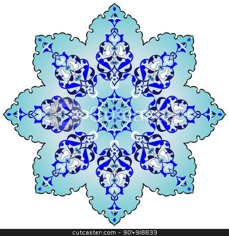 Antique ottoman turkish pattern vector design seven stock vector clipart, colorful antique ottoman turkish design pattern vector by Sevgi Dal