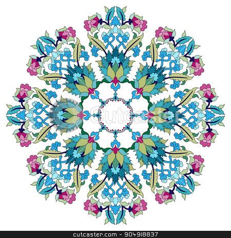 Antique ottoman turkish pattern vector design seventeen stock vector clipart, colorful antique ottoman turkish design pattern vector by Sevgi Dal