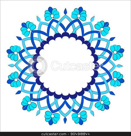 Antique ottoman turkish pattern vector design sixteen stock vector clipart, colorful antique ottoman turkish design pattern vector by Sevgi Dal